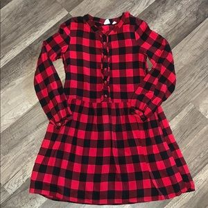 Girls Buffalo Plaid Gap Dress, Size L